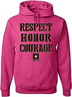 Tee Hunt United States Army Hoodie Respect Honor Courage U. S. Military Sweatshirt