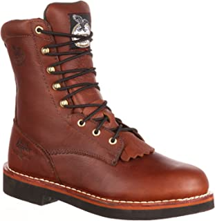 Georgia Boot Men's 8 Inches SPR Farm Ranch Lacer Work Boot-G7014 (M9.5)