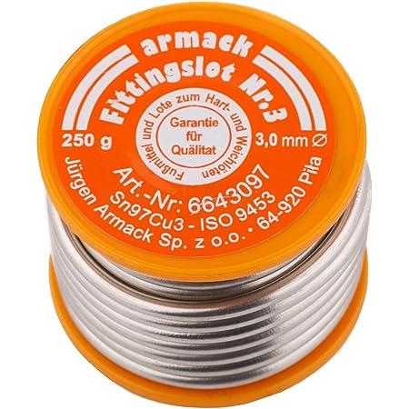 BFG Soudure Amasan, soudure de montage n °3 | alliage S-Sn97Cu3 | fil sur bobine | Soudure tendre pour les travaux d'artisanat et de plomberie