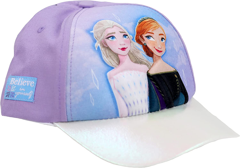 Disney Little Girl's Frozen In a popularity Elsa Anna Cap 3D POP Pur Baseball Columbus Mall