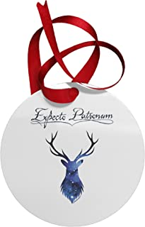 TOOLOUD Expecto Patronum Space Stag Circular Metal Christmas Ornament