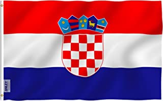 Anley Fly Breeze 3x5 Foot Croatia Flag - Vivid Color and UV Fade Resistant - Canvas Header and Double Stitched - Croatian Flags Polyester with Brass Grommets 3 X 5 Ft