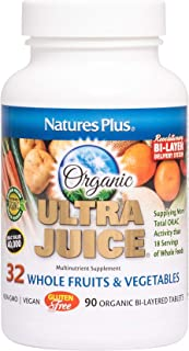 NaturesPlus Ultra Juice Multivitamin - 90 Vegetarian Tablets, Bilayered - Whole Food Supplement - Whole Fruits & Vegetable...