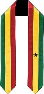 Ghana Flag Graduation Sash/Stole International Study Abroad Adult Unisex