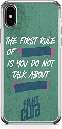 Loud Universe The First Rule of Fight Club iPhone XS Max Case with Transparent Edges Fight Club Phone Case