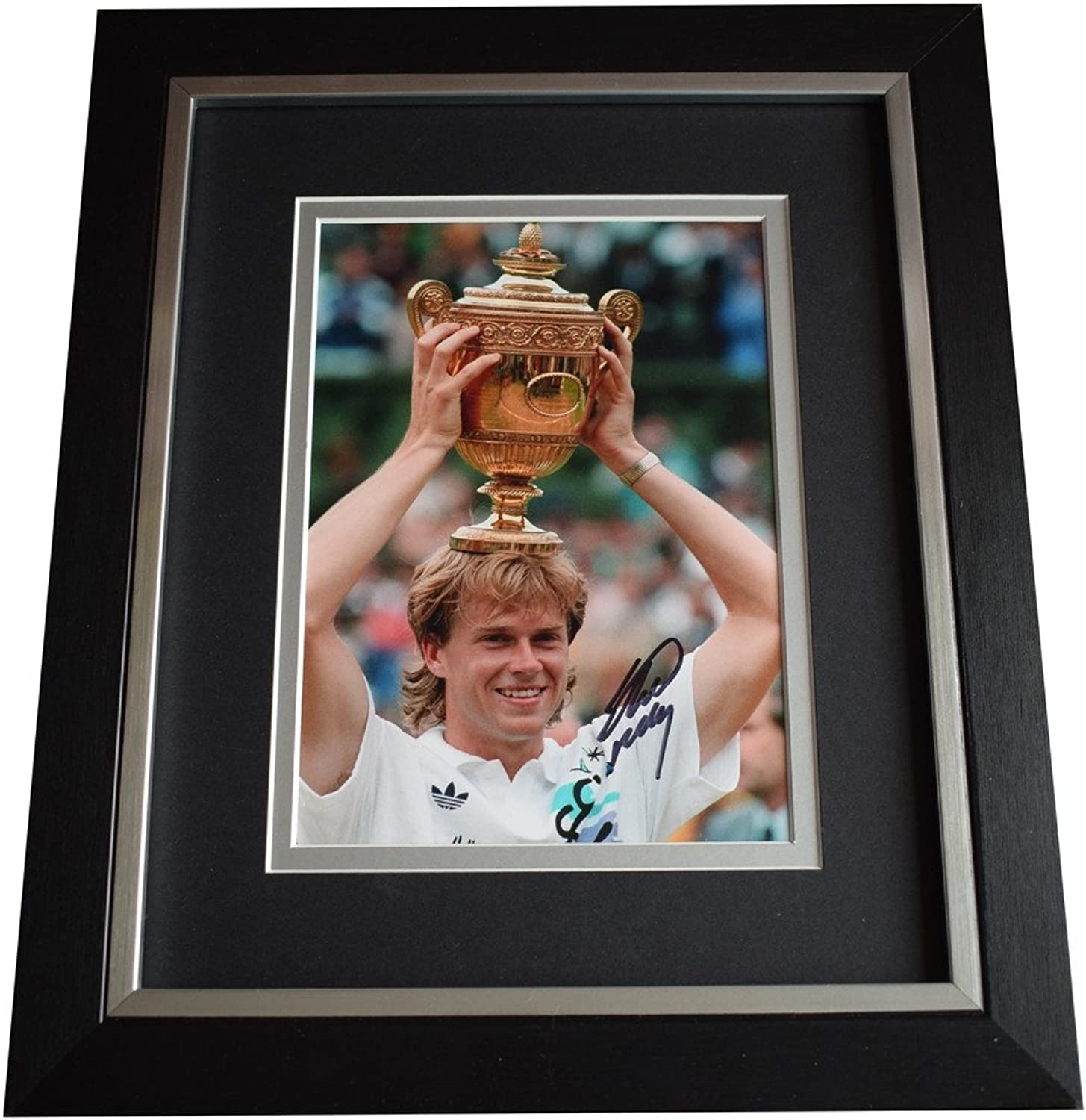 Sportagraphs Stefan Edberg SIGNED 10x8 FRAMED Photo Autograph Display Tennis Sport AFTAL COA PERFECT GIFT