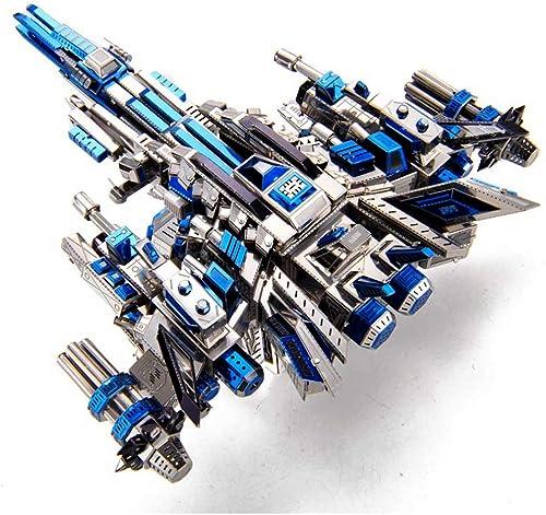 Metal Puzzle, Home Dekoration 3D DIY Montieren Erwachsenen Modellbau, Kits Laser Cut Puzzle Spielzeug PILOT 1 19,8  14,8  10,7 CM