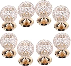 MagiDeal 8pcs Crystal Hollow Votive Tealight Globe Pillar Candle Holders Candlestick Coffee Table Christmas Wedding Decor ...