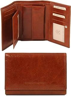 Tuscany Leather Esclusivo portafogli in pelle da donna 3 ante Marrone