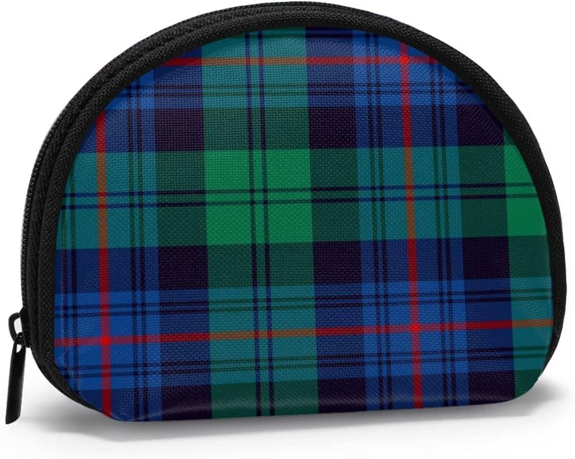 small zipper Coin Purses Vintage zipper Pouch Change Purse Wallets Armstrong Clan Tartan