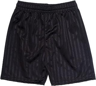 ND Sports School Gym Games Shadow Stripe Shorts for 15-16 Years, Black