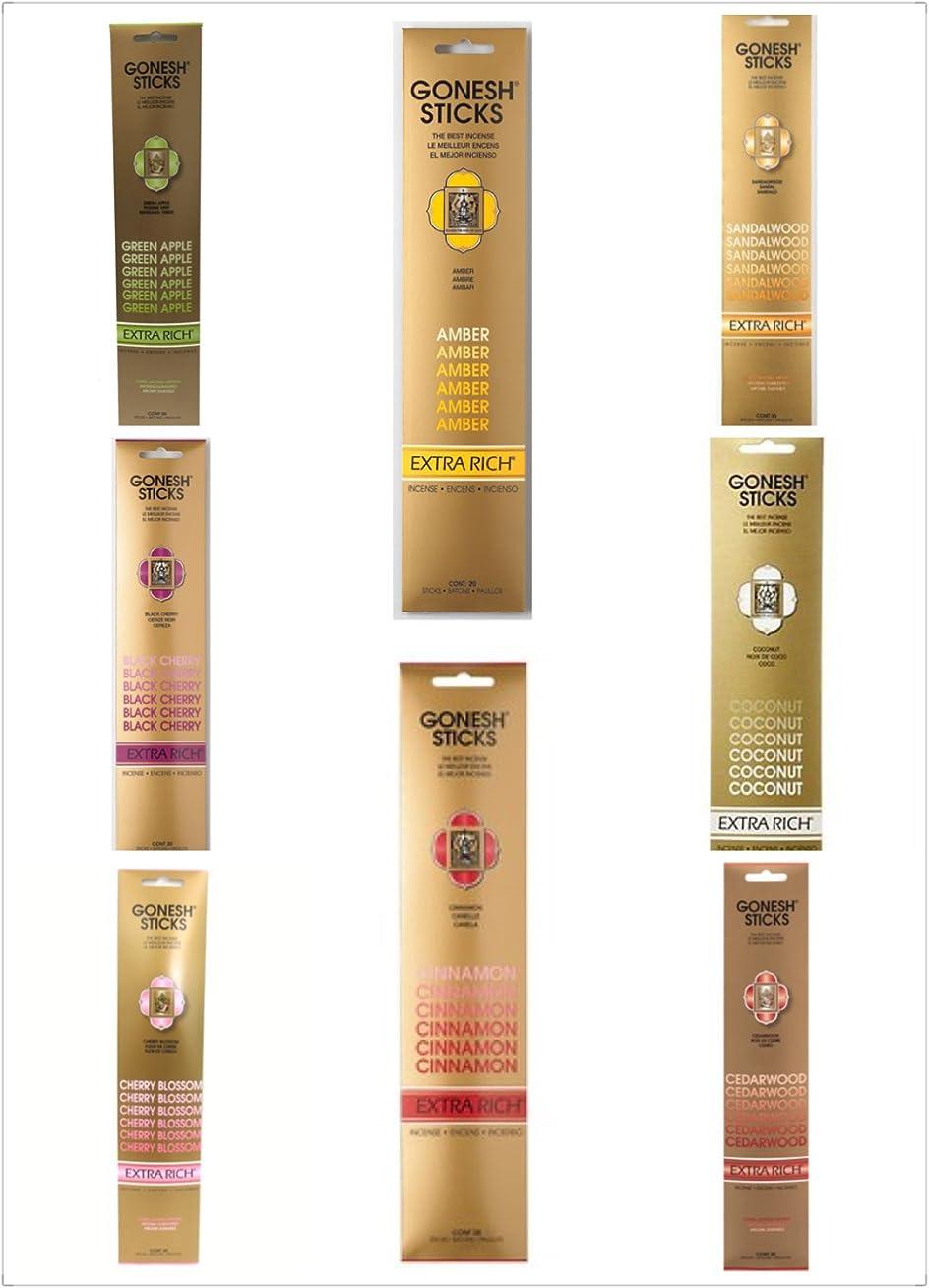 効果蒸発シャツGonesh Incense Sticks 40?Extra Rich Varietyパック800?Sticks ( 20?Sticks /パック× 40パック)