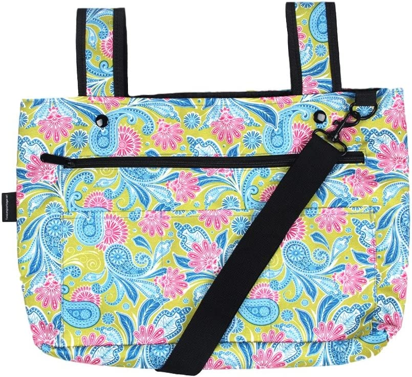 Snapster Snap On Tote Bag for Walker, Stroller or Shopping Cart (Paisley Floral)