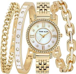Anne Klein Womens Quartz Watch, Analog Display and Stainless Steel Strap AK3400WTST