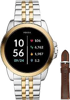 Fossil Orologio Analogico GEN 5E Touch Screen Uomo con Cinturino in Acciaio Inossidabile Bicolore FTW4051 + Cinturino del...