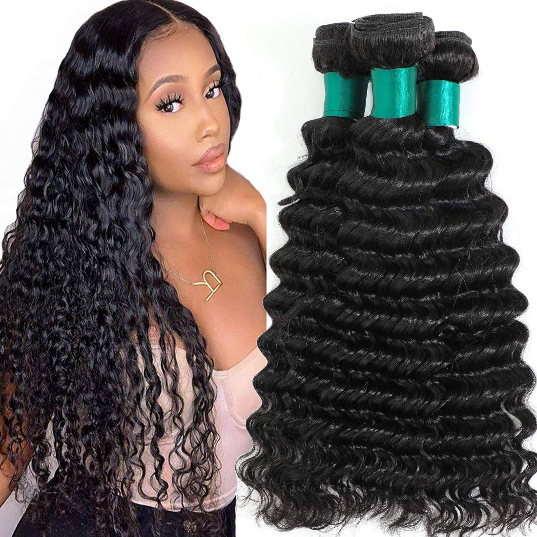 Misoun Brazilian Virgin Popularity Human Hair Cheap mail order specialty store Wave Bundles Deep 3 Unprocess