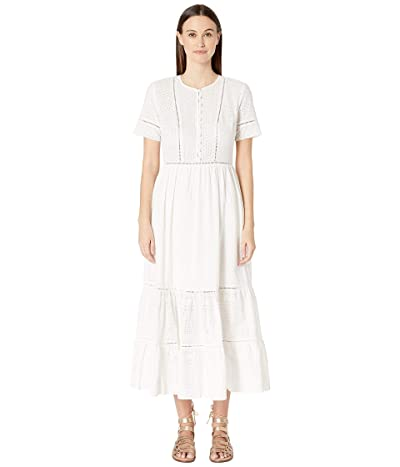 Jonathan Simkhai Embroidered Button Down Tee Dress (White) Women