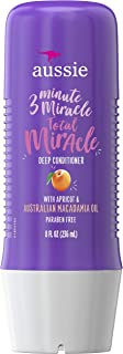 Aussie Paraben-Free Total Miracle 3 Minute Miracle Conditioner w/ Apricot for Damaged Hair, 8.0 fl oz
