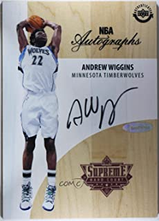Andrew Wiggins (Basketball Card) 2017-18 Upper Deck Supreme Hardcourt - NBA Autographs #A-AW