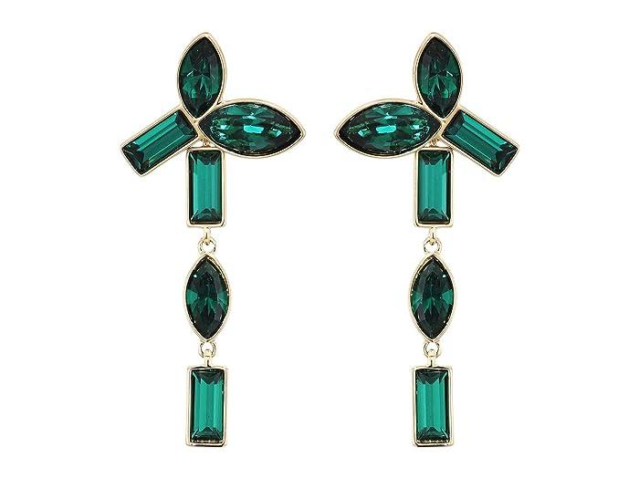 Swarovski  Bamboo Pierced Earrings Jackets (Erinite/Emerald) Earring