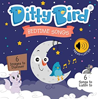 Ditty Bird Our Best Interactive Bedtime Songs Book for Babies. Interactive Musical Book for Toddlers. Educational Music Toys for 1 Year Old. Sound Books for one Year Old Boy Girl Gift