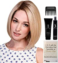Bundle - 5 items: Lady Latte Wig by Belle Tress, Christy's Wigs Q & A Booklet, 2oz Travel Size Wig Shampoo, HD Smooth and Wide Tooth Comb - Color: Butterbeer Blonde