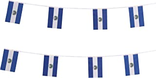 TSMD El Salvador Flag, 100 Feet Salvadoran Flag National Country World Pennant Flags Banner String,Party Decorations for Olympics,Grand Opening,Bar,Sports Events,International Festival Celebration