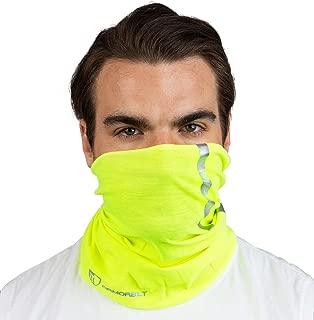Armorbilt High Visibility Reflective Safety Face Clothing - Neck Gaiter, Bandana Dust Mask, Sun Shade Shield, Multifunctional Headwear (Yellow)