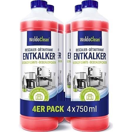 Détartrant Liquide Anticalcaire pour machine à café - 4x 750ml compatible avec toutes les machines