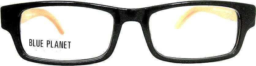 BLUE PLANET Reading Glasses Eco Friendly Men Women Sustainable Bamboo Ladies Designer Eyeglasses Black +1.75