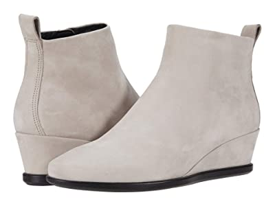 ECCO Shape 45 Wedge Ankle Boot (Grey Rose Calf Nubuck) Women