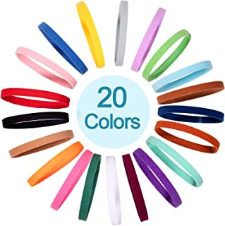 Whaline 20 Colors Puppy Whelping Collars Double-Sided Adjustable ID Collars Soft Bands for Newborn Pet Dog Cat, 13.8 Inches