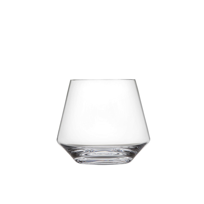 弾力性のあるグリーンバック現実(Set of 6, Stemless Burgundy) - Schott Zwiesel Tritan Crystal Glass Pure Collection Stemless Burgundy Red Wine Glass, 470ml, Set of 6