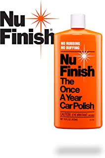Nu-Finish Liquid Polish 16 oz for Cars, Advanced Top Coat Sealant with Simple Once A Year Application, Perfect Kit for Fiberglass Boats, Motorcycles and Various Appliances