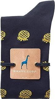 Giraffe Cool Calcetín para Hombre de Color Azules piñas