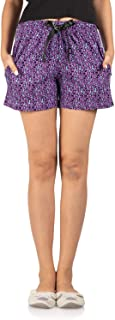 Nite Flite Purple Leopard Print Shorts