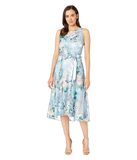 6167a67f17dee Tahari by ASL Embroidered Floral Midi Length Halter Dress at Zappos.com