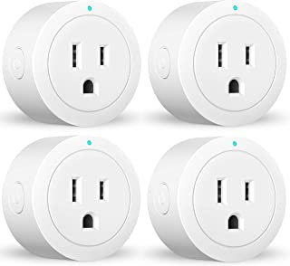 Smart plug Amysen, Works with Alexa, Google Assistant & IFTTT, ETL Certified, Only Supports 2.4GHz Network, No Hub Required, Control Your Devices from Anywhere (White 4 pack)