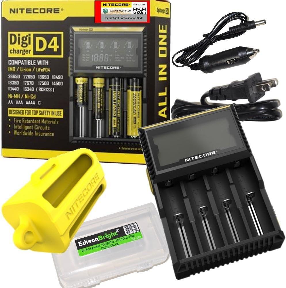 ショップ Nitecore D4 卸売り Digital Smart Battery Ni-CD Li-ion Ni-MH Charger for