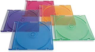 Verbatim Slim Cd and DVD Storage Cases - 100 Pack - 5 Assorted Colors