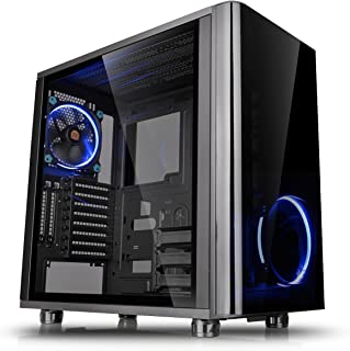 Thermaltake View 31 Dual Tempered Glass SPCC ATX Mid Tower Tt LCS Certified Gaming Computer Case with 2 Blue LED Riing Fan...