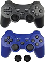 $25 » Bek Wireless PS3 Controller 2 Pack, PS3 Gamepad Remote with Non-Slip Joystick Thumb Grips, Rechargeable Battery Dual Shock...