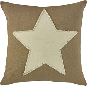 Park Designs Taupe and Star Feather Fill 20 Inches Cotton Cover With a Down Insert Pillowcases