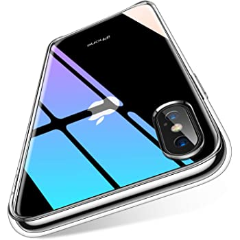 【2020最新版】Humixx iPhone Xs Max 用 ケース 9H強化ガラス背面+TPUバンパー 日本旭硝子製 ストラップホール付き 滑り止め 黄変防止 耐衝撃 クリア[Crystal Series]…