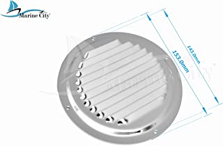 MARINE CITY Stainless-Steel 4 Inches/ 5 Inches/ 6 Inches Round Louvered Vent (Dia.:6 Inches
