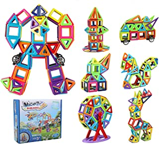 Innoo Tech Magnetic Building Blocks, Magnetic Building Tiles, 181 Pieces Magnetic Shapes, Magnet Blocks Set 3D Building Bl...