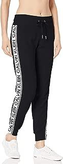 Calvin Klein Women's Vintage Logo Tape Rib Cuff Jogger, Pearl Grey Heather, XS