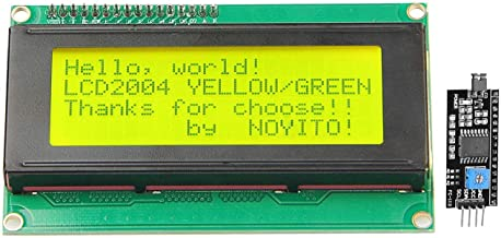 NOYITO 2004 20x4 LCD Module Shield Yellow-Green Backlight with IIC I2C Driver Serial Interface for Arduino UNO R3 MEGA2560 (Yellow-Green Backlight)
