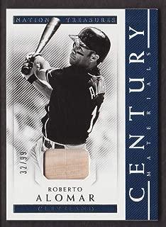 2018 Panini National Treasures Baseball Century Materials #CE-RA Roberto Alomar Bat 32/99 Cleveland Indians