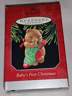 1998 Hallmark Baby's First Christmas Keepsake Ornament QX6586